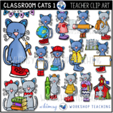 Cats In The Classroom #1 Clip Art (48 graphics) Whimsy Wor