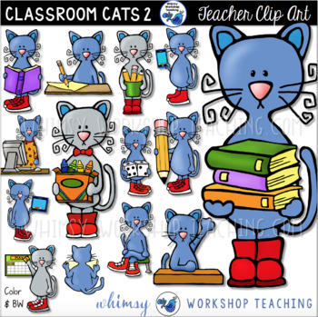 Cats In The Classroom #2 Clip Art