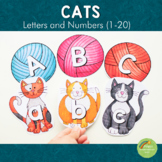 Cats Letters and Number Cards