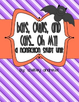 Cats, Owls, and Bats {Nonfiction Goodies for Halloween}