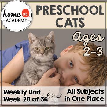 Cats Preschool Unit - Printables for Preschool, PreK, Homeschool Preschool