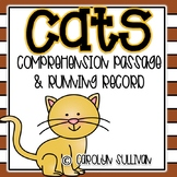 Cats Reading Passage, Running Record & Graphic Organizers!