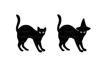 Cats SVG files for Silhouette Cameo and Cricut. Clipart PNG