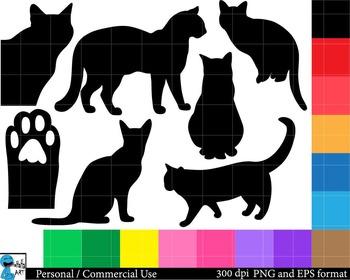 Cats Set Clipart Digital Clip Art Graphics 98 images cod86