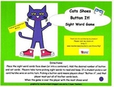 "Cat's Shoes ""Button It!"" Sight Word Game-Kindergarten and"