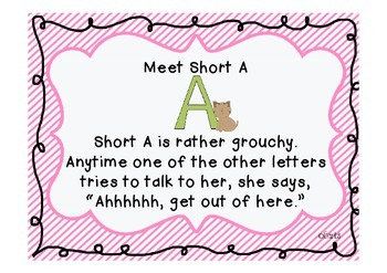 Cats - Short a and Other Literacy Activities