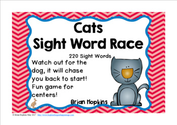 Cats Sight Word Race