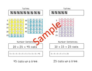 Cats Up A Tree: K-1 Math Booklet (Addition & Patterns of 5)