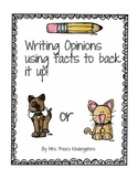 Cats Versus Dogs- Which makes a better pet?- Opinion Writing activity