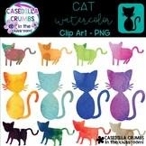 Cats Watercolor Clip Art - 12 Images