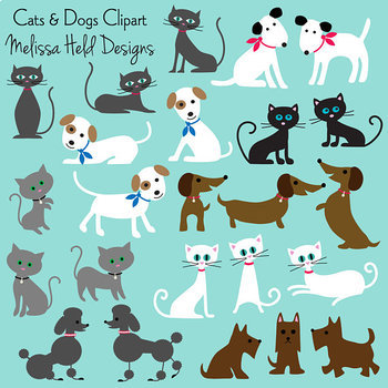 Clipart: Cats and Dogs Clip Art
