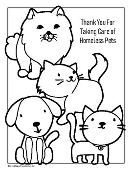 Cats And Dogs Coloring Page By Youthstrong Teachers Pay Teachers