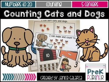 Cats and Dogs Math Centers