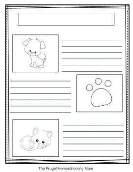Cats and Dogs Notebooking Pages (Blank writing sheets & Bible verses)
