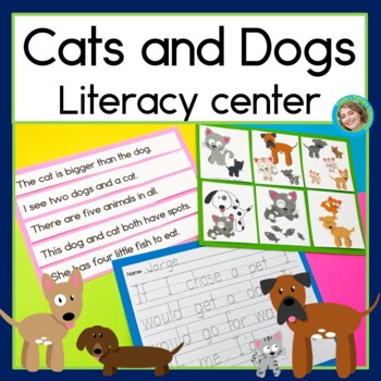 Cats and Dogs Sentence Picture Match Reading Center