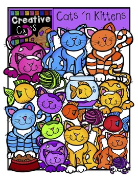 Cats and Kittens {Creative Clips Digital Clipart}