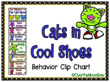 Cats in Cool Shoes Behavior Clip Chart