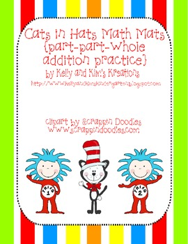 Cats in Hats Math Mats {part-part-whole addition practice}
