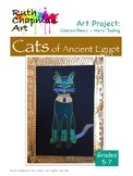 Ancient Egyptian Cats Art Lesson for Grades 5-7