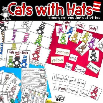 Cats with Hats!  Emergent Reader Activities