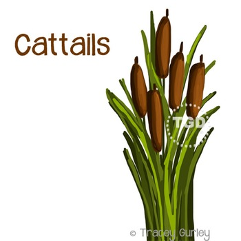 Cattails Graphic - cattails clip art Printable Tracey Gurley Designs