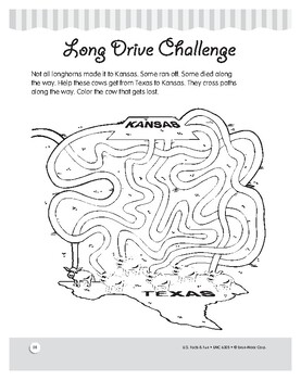Cattle Cowboys: Herding Cows from Texas to Kansas: Comprehension Unit
