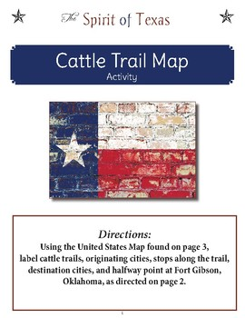 Cattle Trail Map Activity