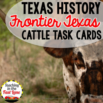 Cattle and Railroads Task Cards with Optional Self Checkin
