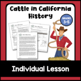 Cattle in California History