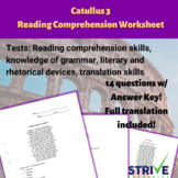 Catullus 3 Advanced Latin Reading Comprehension Worksheet
