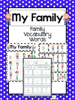Caucasian Family Vocabulary Cards