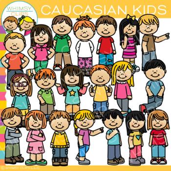 Caucasian Kids Clip Art