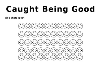 Caught Being Good Chart