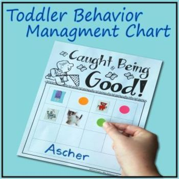 """Caught Being Good"" - Toddler Behavior Chart"