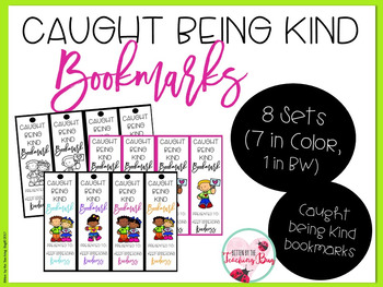Caught Being Kind Random Acts of Kindness Bookmarks Editable