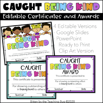 Random Acts of Kindness Certificates