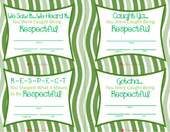 Caught Being Kind & Respectful Cards