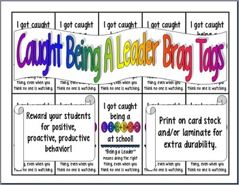 Caught Being a Leader Brag Tags