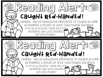 Caught Red-Handed Reading Freebie