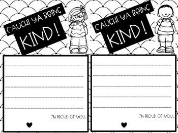 Caught Ya Being Kind- Positive Behavior Notes