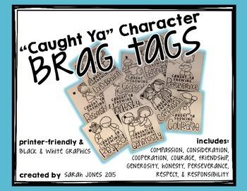 """Caught Ya!"" Character Brag Tags"