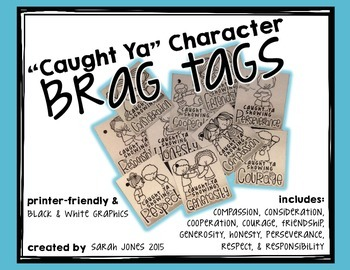 """Caught Ya!"" Character Brag Tags"