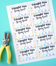 Caught You Being Good Punch Cards - Behavior Management Tool