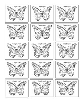 Caught You Butterfly Tags