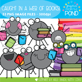 Caught in a Web of Reading / Books Clipart Set