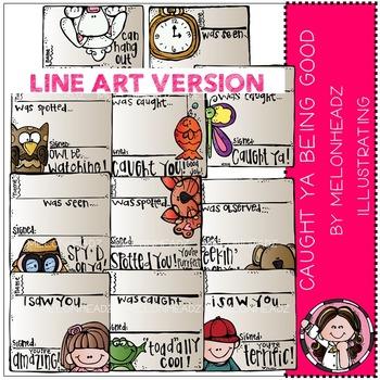 Melonheadz: Caught ya being good clip art - LINE ART