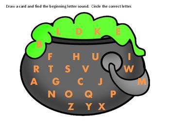 Cauldron Beginning Letter Sounds