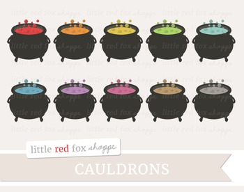 Cauldron Clipart; Halloween, Witch, Potion