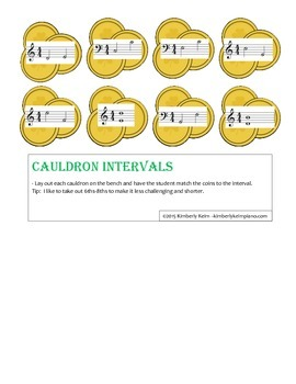 Cauldron Intervals - St. Patrick's Day Piano Game