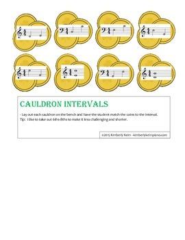 Cauldron Intervals - St. Patrick's Day Piano Game